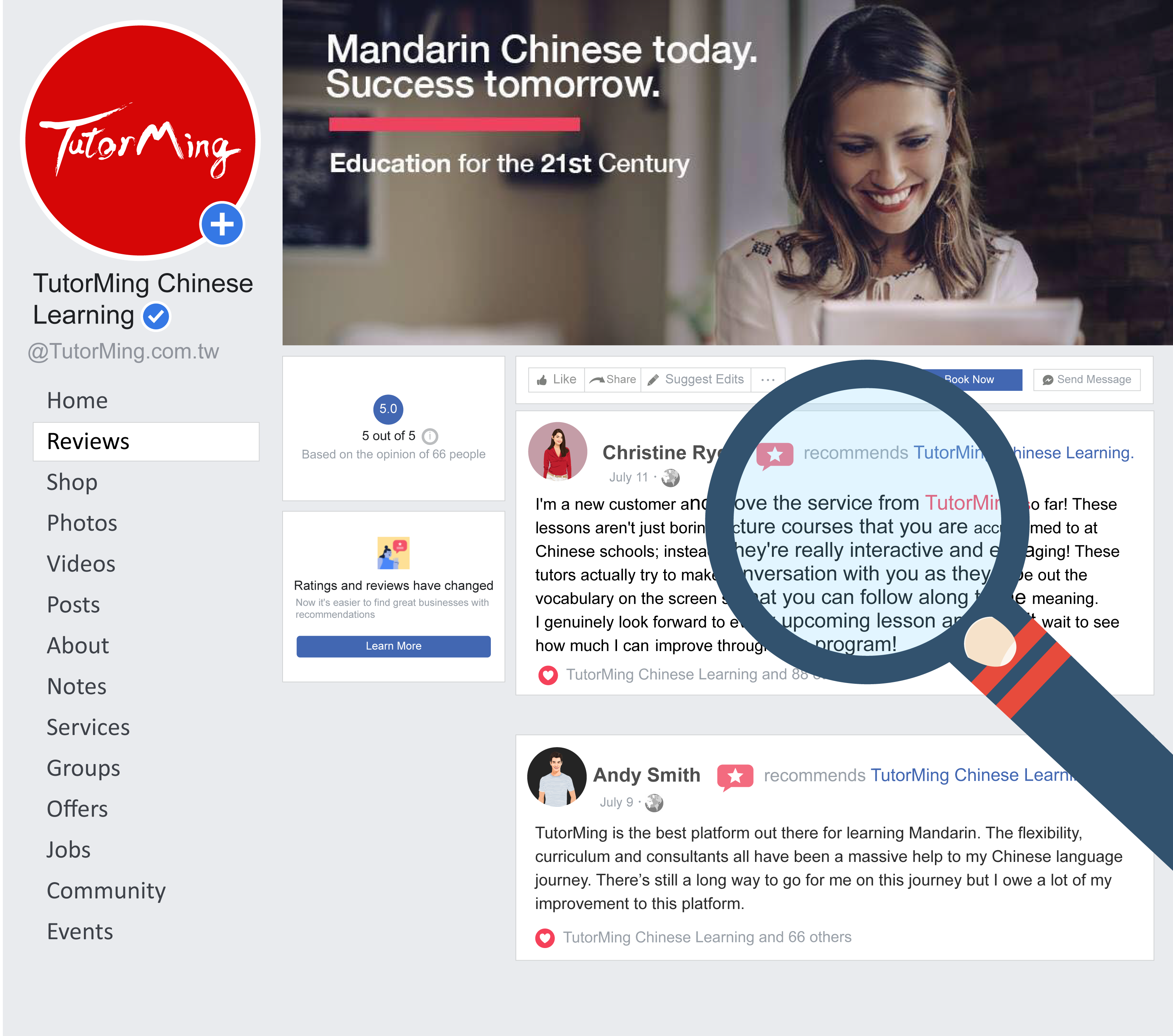 Facebook review TutorMing