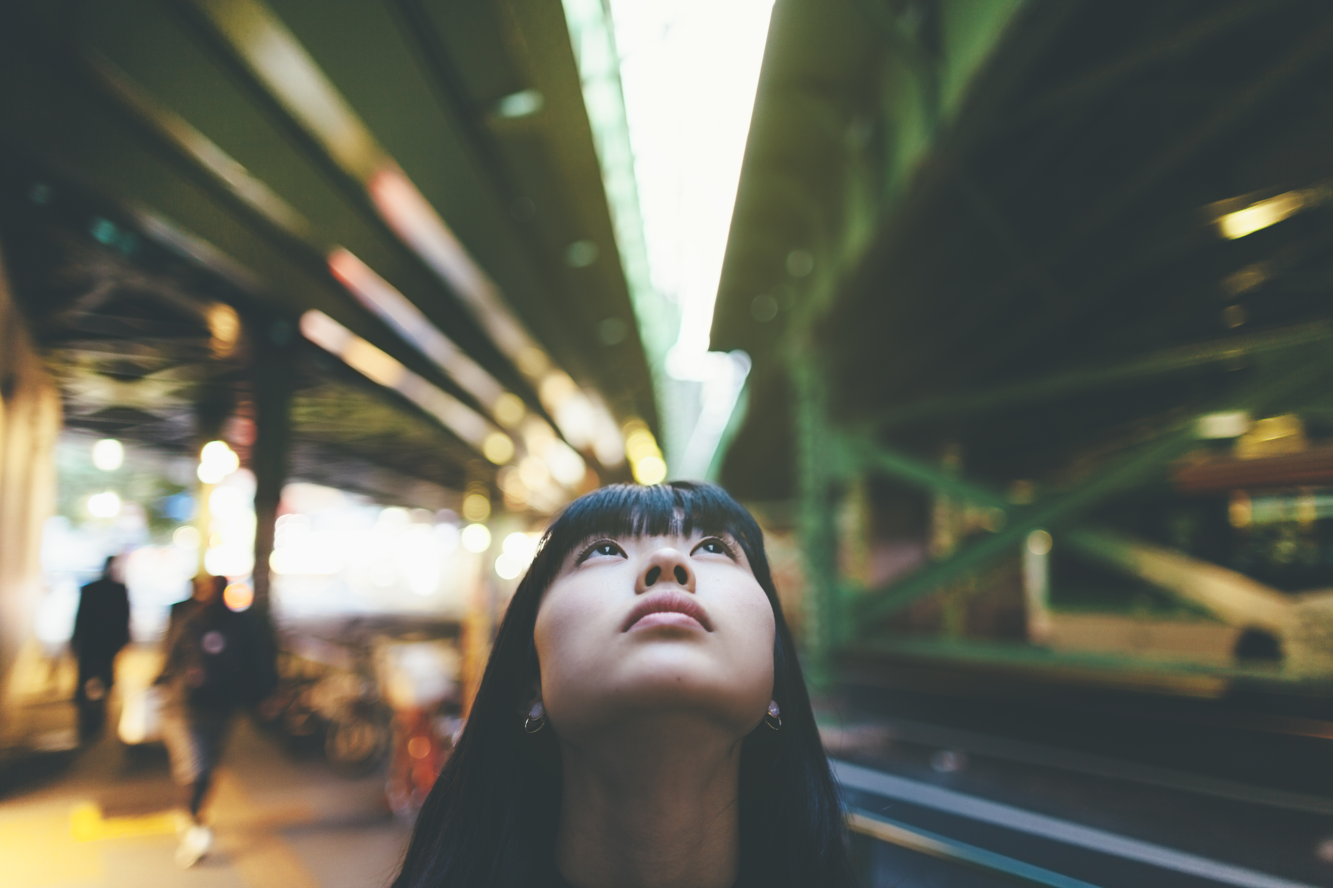 single woman in city