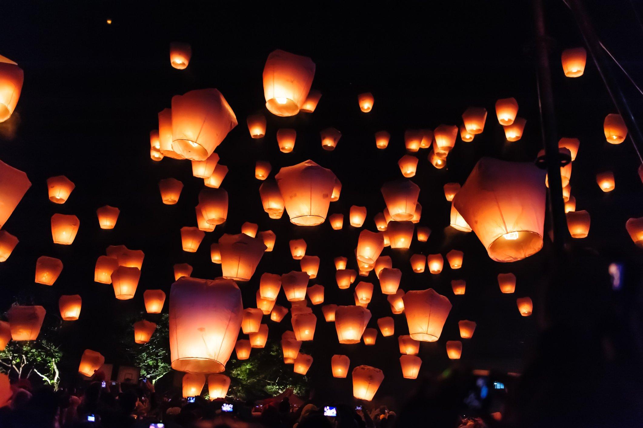 Lantern festival in Taiwan