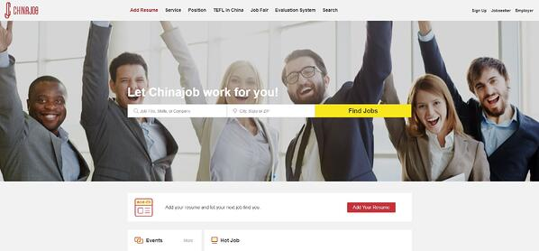 Top Websites to Find a Job in China-China job