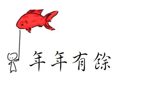 a popular saying during chinese new year is nin nin yu y which translates into extra money every year the word has the same